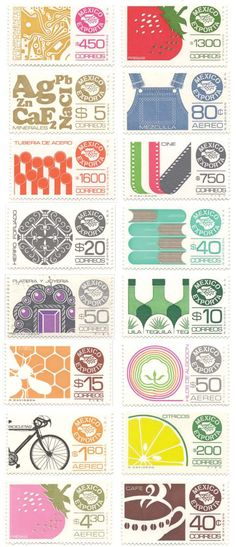 Mexican stamps. Wishing the US had cheerful fun stamps like this!