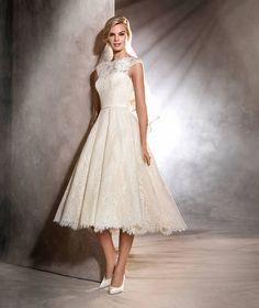 OLGA - Vestido de novia corto de estilo vintage