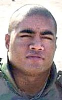 Army SSgt. Salamo J. Tuialuuluu. Died December 4, 2004. Serving during Operation Iraqi Freedom. 23, of Pago Pago, American Samoa; assigned to 3rd Battalion, 21st Infantry Regiment, 1st Brigade, 25th Infantry Division (Stryker Brigade Combat Team), Fort Lewis, Washington. Died in Mosul, Iraq, when his Stryker military vehicle received enemy fire during convoy operations.