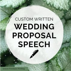 Wedding Proposal -- Custom Speech. Have the perfect words to help you propose to the love of your life with this custom written speech. This can be read or gifted to your loved one as part of your wedding proposal. Matron Of Honor Speech, Matron Of Honour, Proposal Speech, Funny Speeches, 750 Words, Best Man Speech, Bride Sister, Perfect Word, Custom Writing