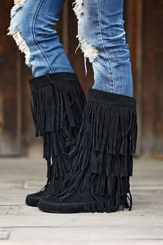 Rust Fringe Boots | Shoes, Fringe boots and Fringes