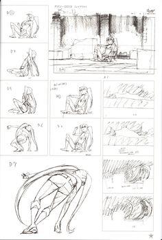 black_rock_shooter effects genga layout yutaka_nakamura