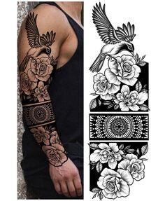 Animal Sleeve Tattoo, Sleeve Tattoos, Hand Tattoos For Guys, Girl Tattoos, Ace Of Spades Tattoo, Spade Tattoo, Tattoo Brazo, Geometric Mandala Tattoo, Band Tattoo Designs