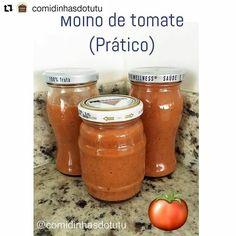 Adorei essa forma de termos um molho de tomate saudável e prático que encontrei no @comidinhasdotutu. Aliás lá encontramos muitas informações bacanas sobre a alimentação dos pequenos! #babydicas