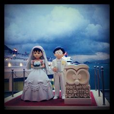 Its happy ever after do exists #wedding #100yearsdoraemon #hongkong #harbourcity #instaphotos #iphonesia - @indityaputri- #webstagram
