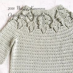 I am finally making some progress on this sweater meaning i stopped frogging last 10 round and starting over 😅 moved on to bottom band…Leaf Yoke Sweater crochet pattern is coming soon!This is a fun, quick and easy crochet project for all level S Crochet Cardigan Pattern, Crochet Blouse, Crochet Patterns, Crochet For Kids, Easy Crochet, Knit Crochet, Pull Crochet, Crochet Woman, Crochet Fashion