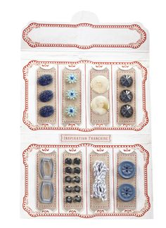 Delight in this French-inspired selection of treasures to add to cards, scrapbooks, and home decor projects. This Notions Kit includes adhesive-backed buttons Ek Success, French General, Button Cards, Arts And Crafts, Kit, Crafty, Boutique, Unique Jewelry, Creative