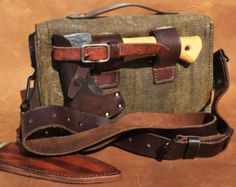 Leather and Waxed Canvas Bushcraft Bag