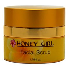 Honey Girl Organics Facial Scrub gently exfoliates, cleanses and whisks away dead skin cells while drawing out impurities from you skin. It increases blood circulation, helps balance skin tone and dim
