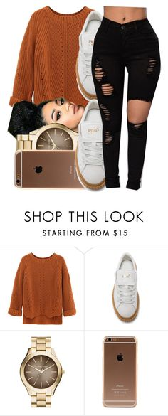 """""""Contest‼️"""" by jalay ❤ liked on Polyvore featuring WithChic, Puma and MICHAEL Michael Kors"""