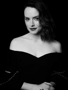 """""""Actress Daisy Ridley from Star Wars: The Last Jedi photographed on July 15, as a part of """"Disney D23 GMA Pop-up Portraits"""" project. """""""
