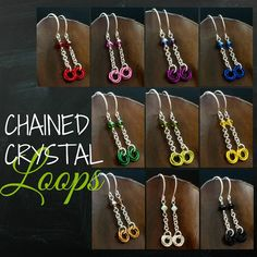 Chained Crystal Loops Earring Kit - Pick one to make or all 10!