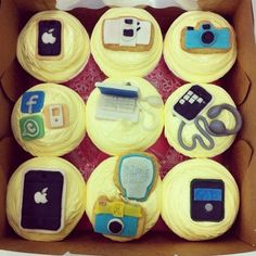 "I never thought of technology as ""Tasty"" until now! 12 dozen of the social media icon cakes please :) Visit us at PulseTV.com for your electronic equipment needs (and anything else). The products you want and hugely discounted prices!"