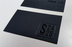Black Business Cards with Glossy Black Foil