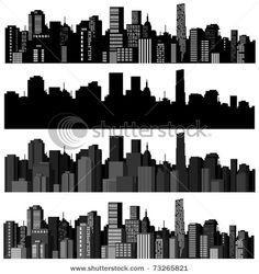 149 Best Stencils : Skylines images Skyline Stencils