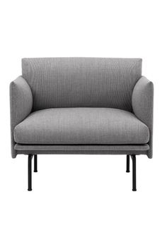 Buy the Outline Armchair - Fiord 151 from Muuto at AMARA. Muuto Sofa, Outline, Scandinavian Sofas, Oversized Furniture, Grey Armchair, Studio, Love Seat, Upholstery, Couch