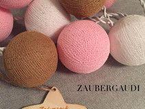 ⭐️ Lichterkette 20 Baumwollbällchen ⭐️ Cottonballs