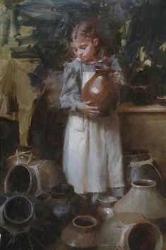 Lots of Pots - Morgan Weistling Morgan Weistling, Acrylic Portrait Painting, Mode Poster, Sweet Drawings, Painting Still Life, Cool Paintings, Art Studies, Figure Painting, American Artists