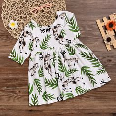 acacf51f53 Mikrdoo 2017 Summer Style Girl s Dress Toddler Kids Baby Girl Cotton Deer Printed  Princess Vestido Wedding Party Pageant Top Cute Sundress
