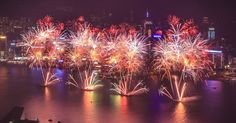 Chinese New Year Fireworks in Hong Kong  Last minute summer holidays www.hkoffers.com