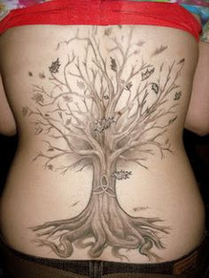 farie tree tattoo images | POTTER TATTOOS: Tree Tattoos For Women