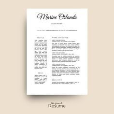 simple design resume template cv cover letter references by thefrenchresume curriculum vitae creative cv