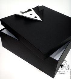 Купить Подарочная коробка для мужчины - черный, подарочная коробка, большая коробка, коробка для мужчины