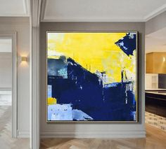 Super Texture Palette Abstract Oil Painting On Canvas,Blue Abstract Painting,Yellow Oil Painting,Original Abstract Canvas Wall Art Painting Abstract Canvas Wall Art, Blue Abstract Painting, Oil Painting Flowers, Oil Painting On Canvas, Wall Canvas, Painting Art, Painting Videos, Painting Lessons, Online Painting