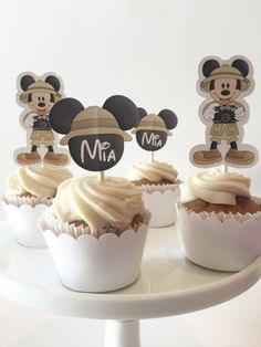 This item is unavailable Safari Party Favors, Safari Birthday Cakes, Safari Cupcakes, Themed Cupcakes, Mickey Mouse First Birthday, Mickey Mouse Cake, Mickey Mouse Parties, Mickey Party, Zoo Cake