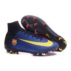 buy popular d381d aa5d4 Mejores Botas De Futbol Nike Mercurial Superfly V FG Azul Negro Amarillo  Rojo