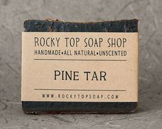 Pine Tar Soap   All Natural Soap Beard Soap by RockyTopSoapShop