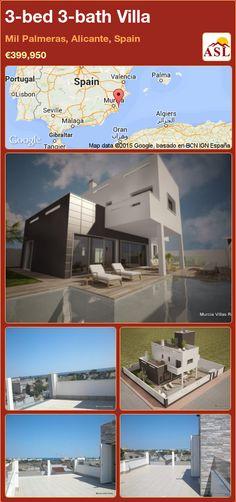 3-bed 3-bath Villa in Mil Palmeras, Alicante, Spain ►€399,950 #PropertyForSaleInSpain