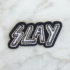 Slay Iron On Patch - Embroidered Patches - Fierce - Edgy - Wildflower Co. - GROUP