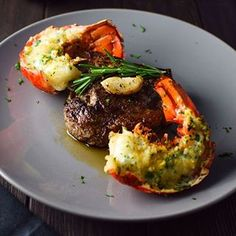 NOW ON THE BLOG: WICKED easy surf and turf made with baked lobster tails basted in herb butter and a shared NY strip steak with a little garlic and rosemary  YUH.