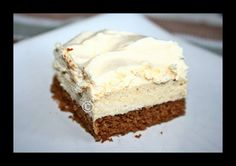 Chestnut dessert with caramel whipped cream