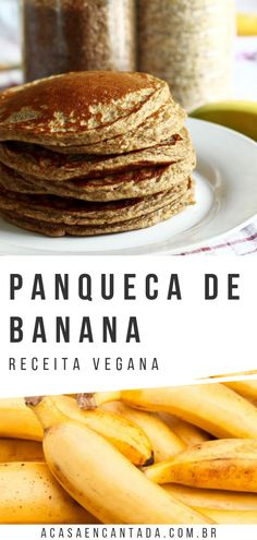 Vegan Recepies, Vegetarian Recipes, Healthy Recipes, Vegan Banana Pancakes, Going Vegan, Raw Vegan, Breakfast Recipes, Easy Meals, Yummy Food