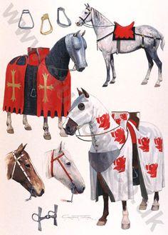 14th Century Horses - Original painting