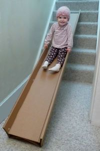 $10 Indoor Slide   Iu0027m Thinking This Will Be Perfect For The Infant  Crawling Track. Jenn, This Might Be Cool For Indoor Activities On The New  Stairs In The ...