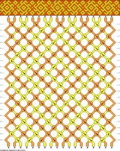 Pulsera de 18 Cordones, 2 Colores y 20 Filas