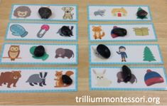 Isolating Ending Phonemes Activity for Book, The Mitten by Jan Brett (from Trillium Montessori)