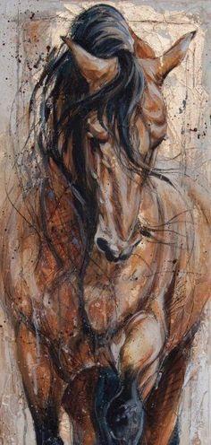pferdekunst zufallige bilder kunst ideen tiere malen wasserfarben ol auf