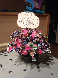 50 Blows bouquet - for a 50th birthday party/gift