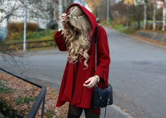 Little Red Riding Hooded Coat - Retro, Indie and Unique Fashion