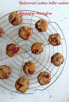 My Sweet Faery - Redcurrant cashew butter cookies