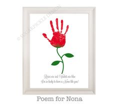 Check out Gift for Nona, Nona's Birthday Gift, Personalized, Handprint, Kids gift to a Nona, Mothers Day gift on sugarpickledesigns