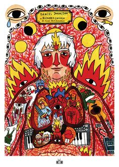 An excerpt from the upcoming graphic novel about the musician Daniel Johnston by Ricardo Cavolo, written by Scott McClanahan. Spanish Artists, French Artists, Daniel Johnston, Powerful Art, Big Love, Book Publishing, Mtv, Psychedelic, Childrens Books
