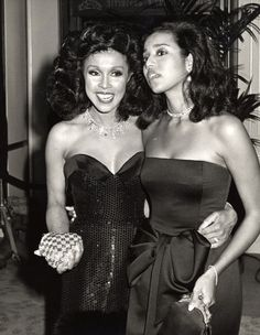 Diahann Carroll! Here, she is pictured with her daughter, Suzanne, at the 1987 Golden Globe Awards in Beverly Hills.