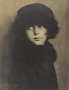 Nickolas Muray (1892-1965, Hungarian American), 1922, Portrait of a young girl, Silver bromide print mounted on board.