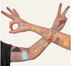 Temporary tattoos by Andrea Kang for Ink'd