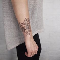 Corsage wrist flowers - Tattoo People Toronto - Jess Chen